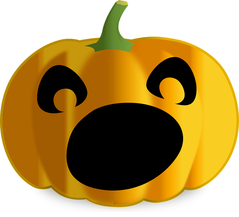 Scary jack o lantern. Spooky clipart vector