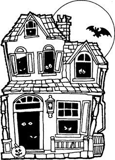 Spooky clipart weird house.  best haunted drawing