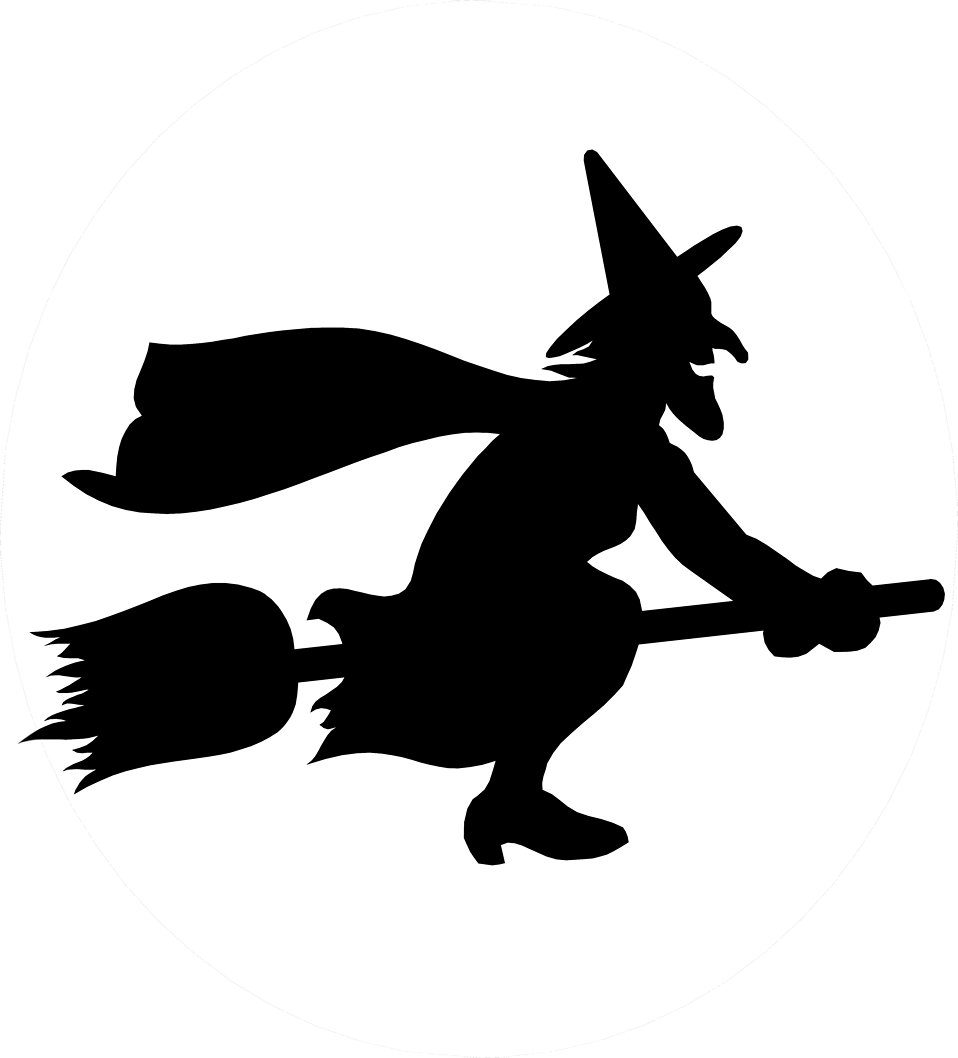 With cauldron silhouette at. Witch clipart symbol