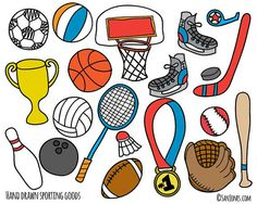 Sports clipart. Free for parties crafts