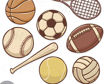 Athletic clipart ball. Sports balls clip art