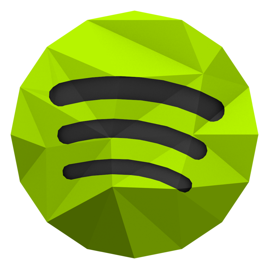 Spotify icon png. Low poly by benwurth