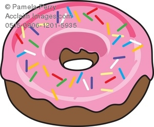 Sprinkles clipart. Clip art illustration of