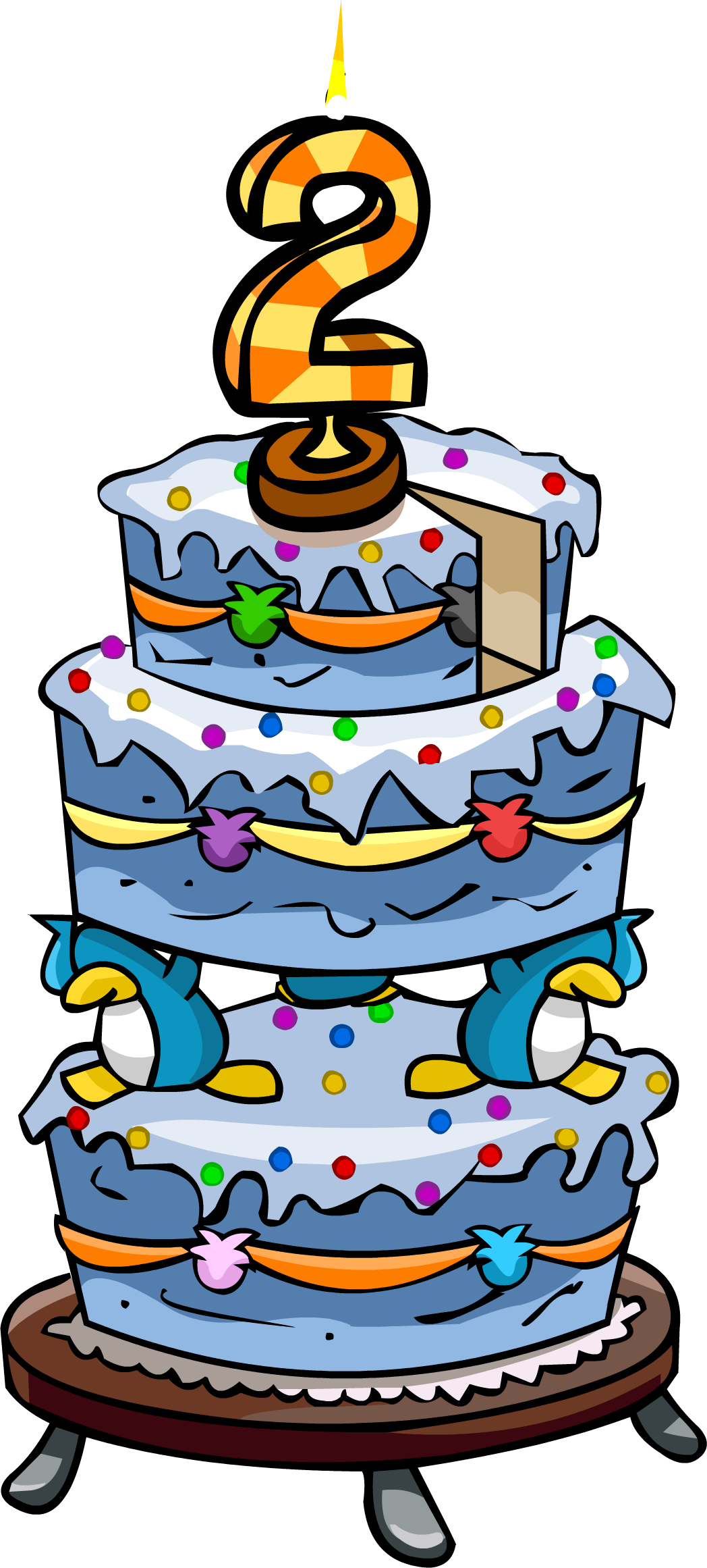Sprinkles clipart cake decorating. Anniversary cakes club penguin