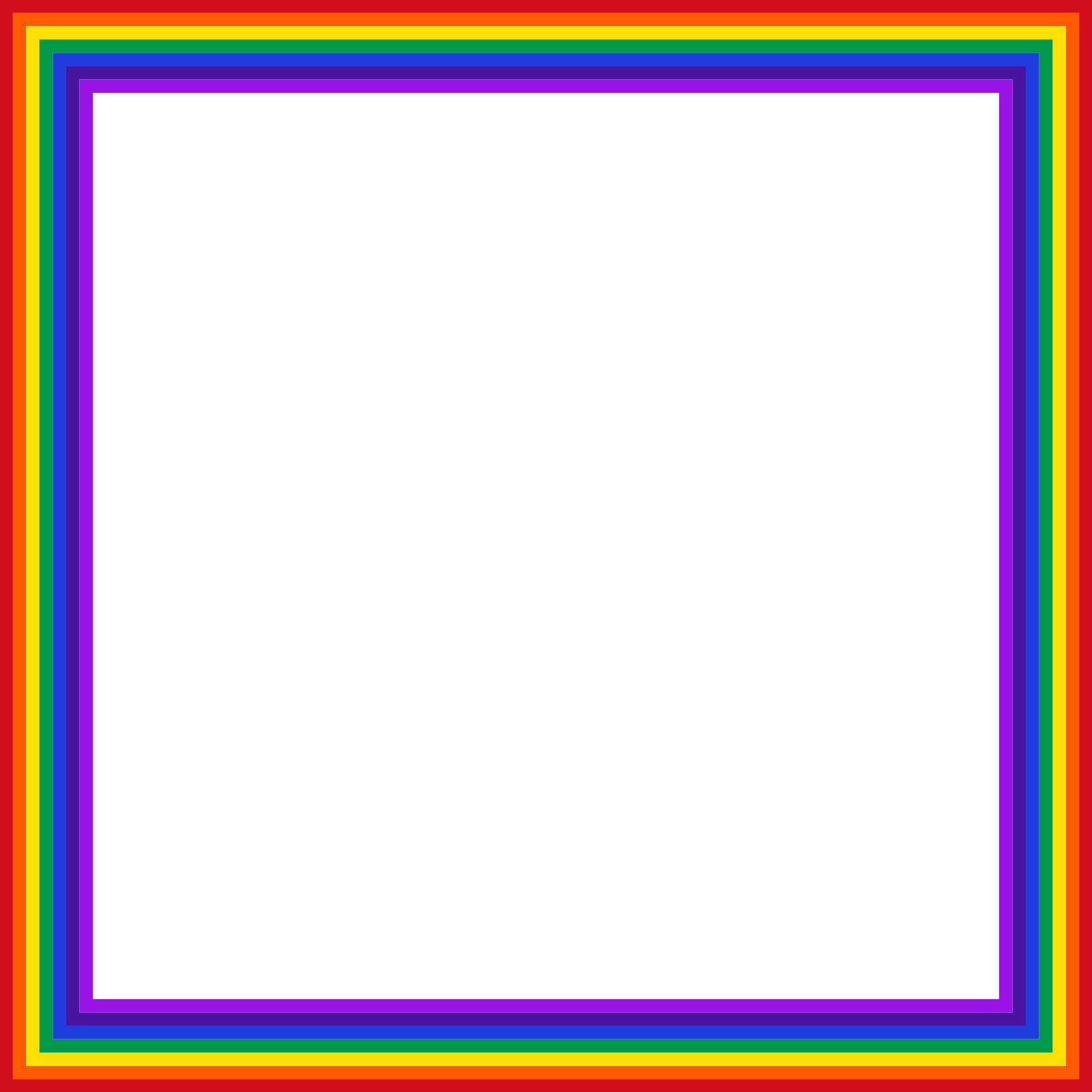 Rainbow design droide. Square clipart