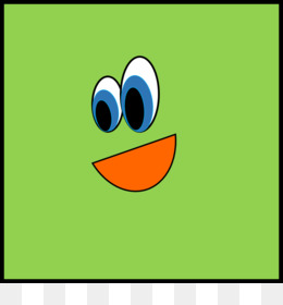 Square clipart. Free download amphibian smiley