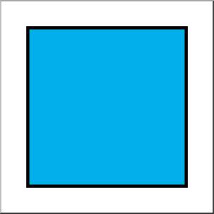 Square clipart. Clip art shapes color