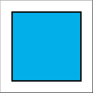 Clip Art: Shapes: Square Color Unlabeled I abcteach.com | abcteach