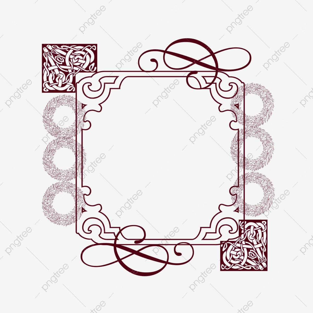 Creative frame decoration . Square clipart beautiful border