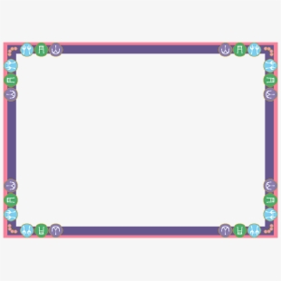 Frame design simple borders. Square clipart beautiful border