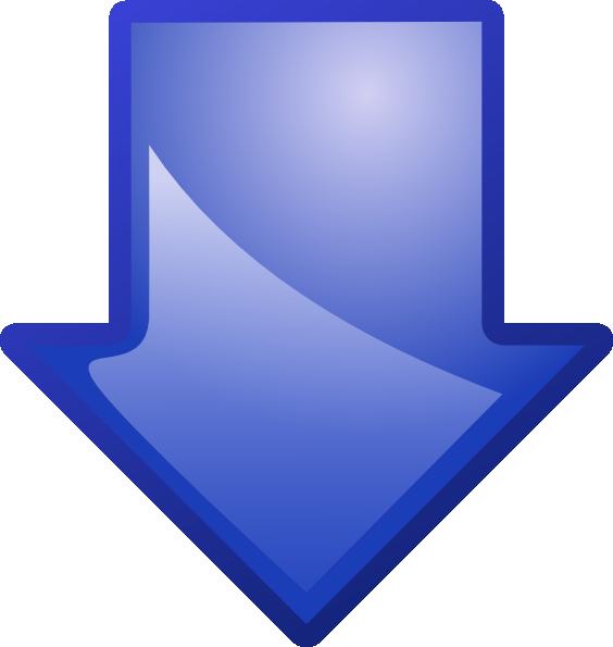 Arrow Blue Down Clip Art at Clker