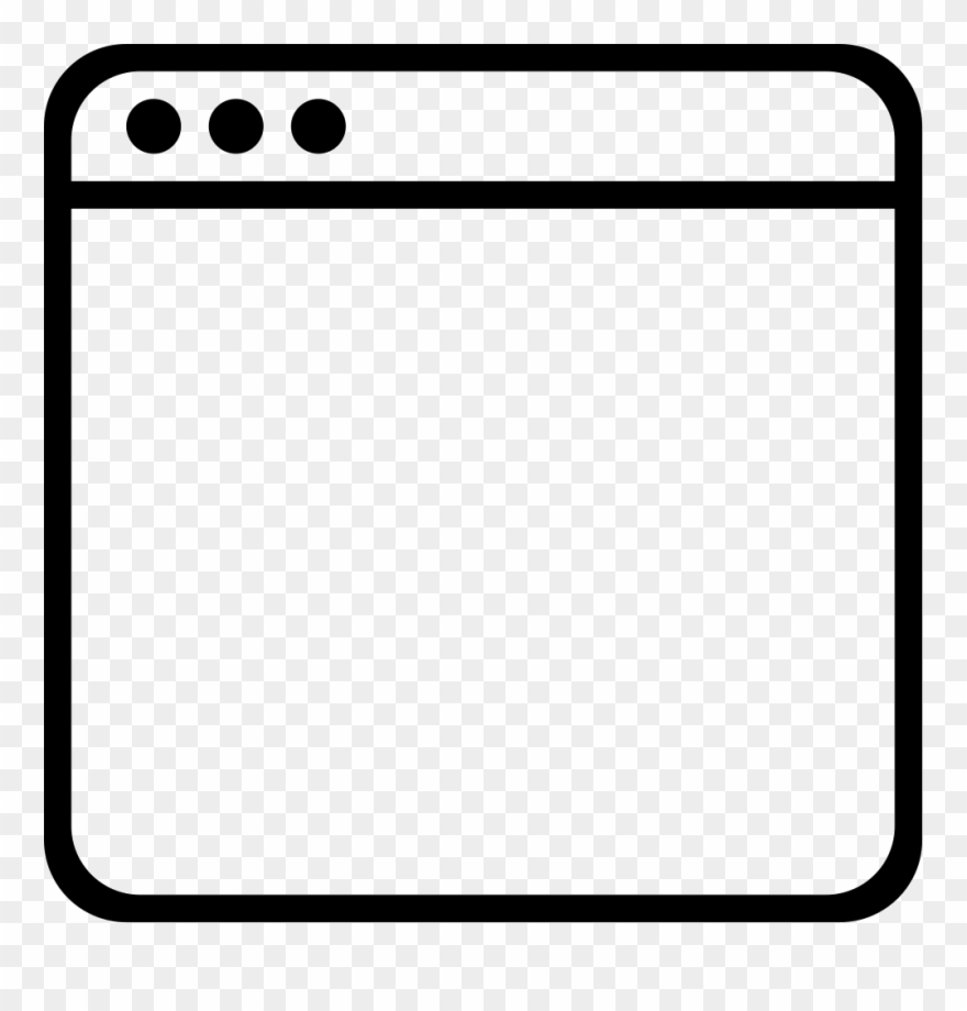 Square clipart blank square. Window empty outlined interface