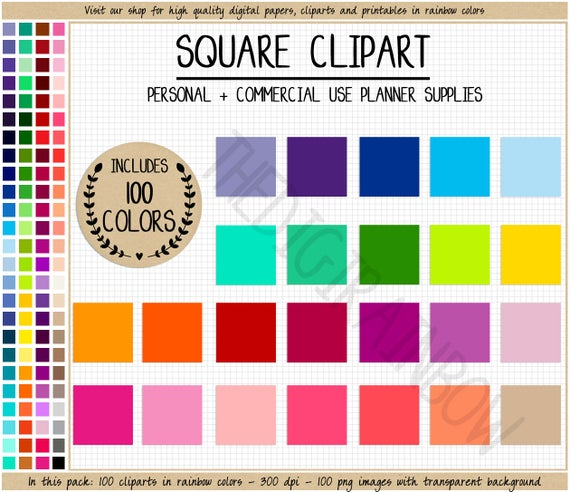 Sale rainbow stickers bright. Square clipart blank square