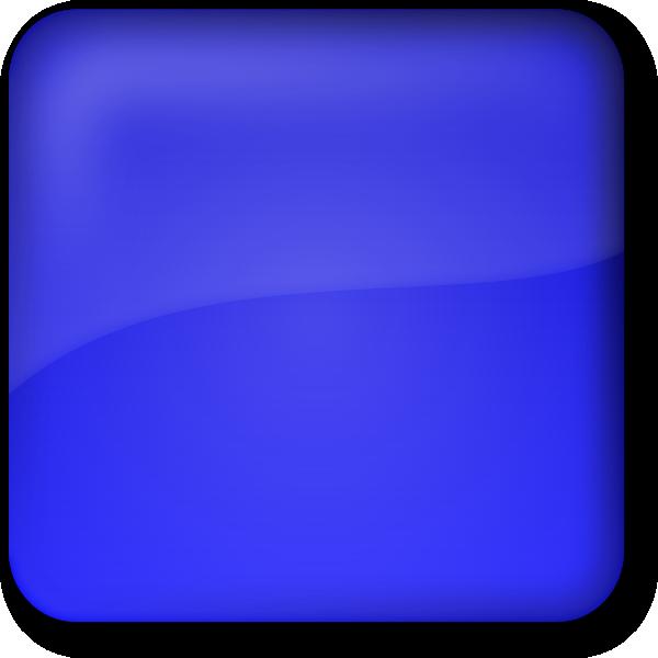 Round button clip art. Square clipart blue square