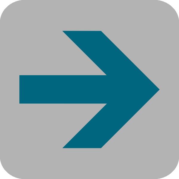 Right arrow icon clip. Square clipart blue square