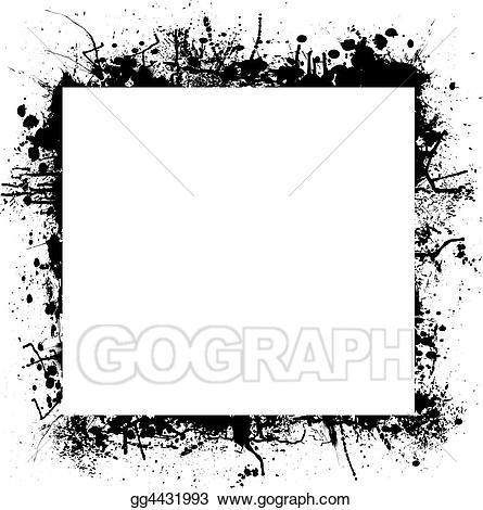 Stock illustrations ink splat. Square clipart border