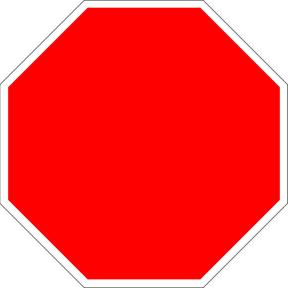 Square clipart bright. File blank stop sign