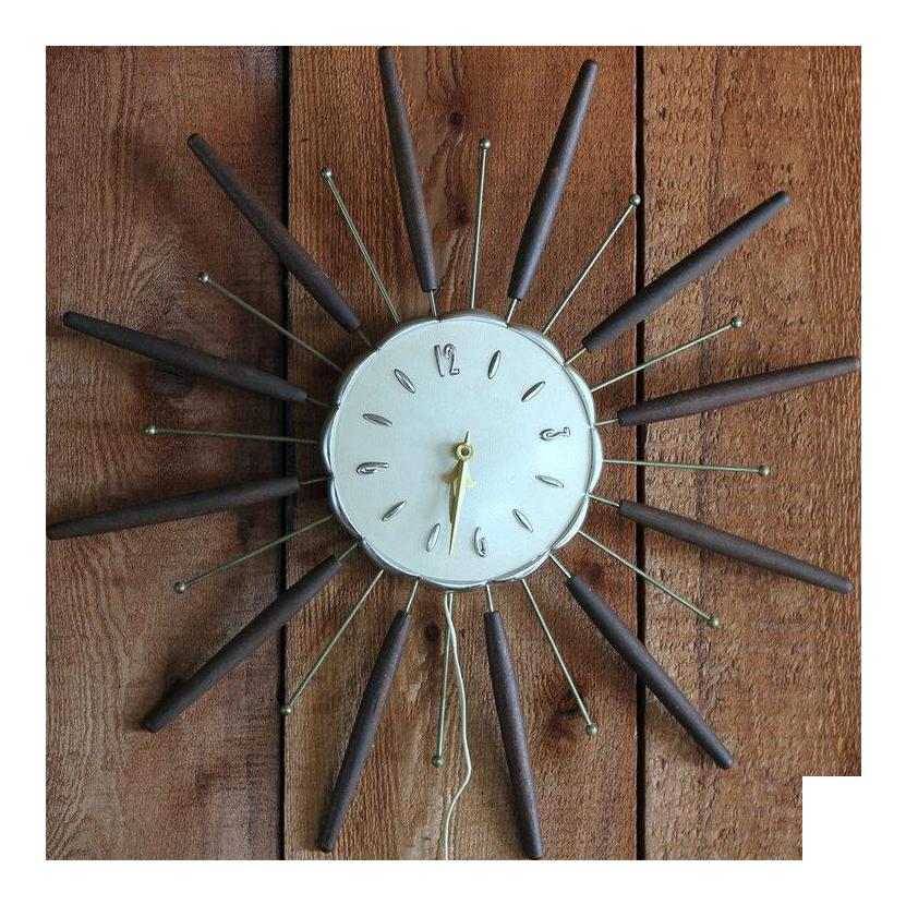 Robertshaw lux starburst chairish. Square clipart brown clock