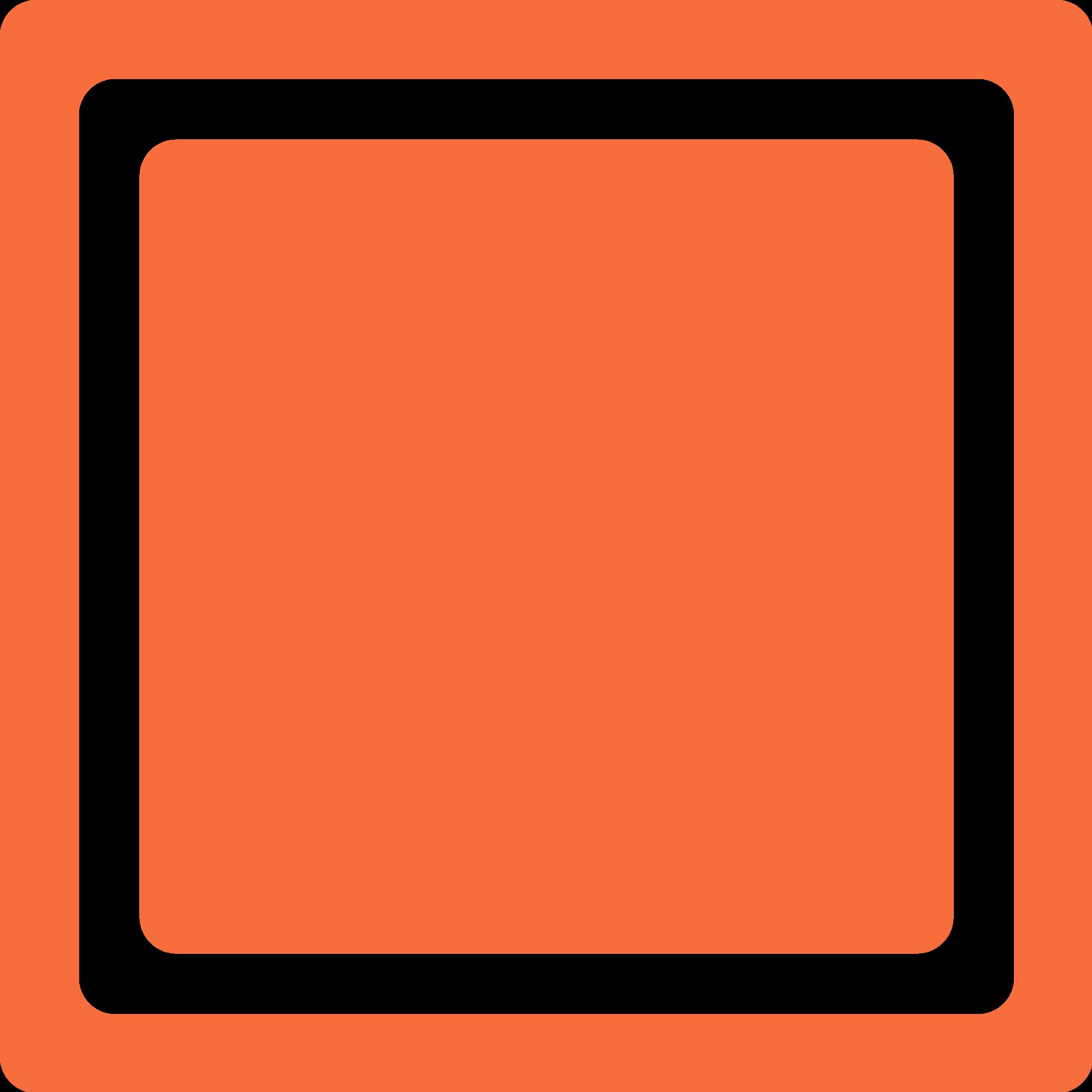 File orange checkbox unchecked. Square clipart check box