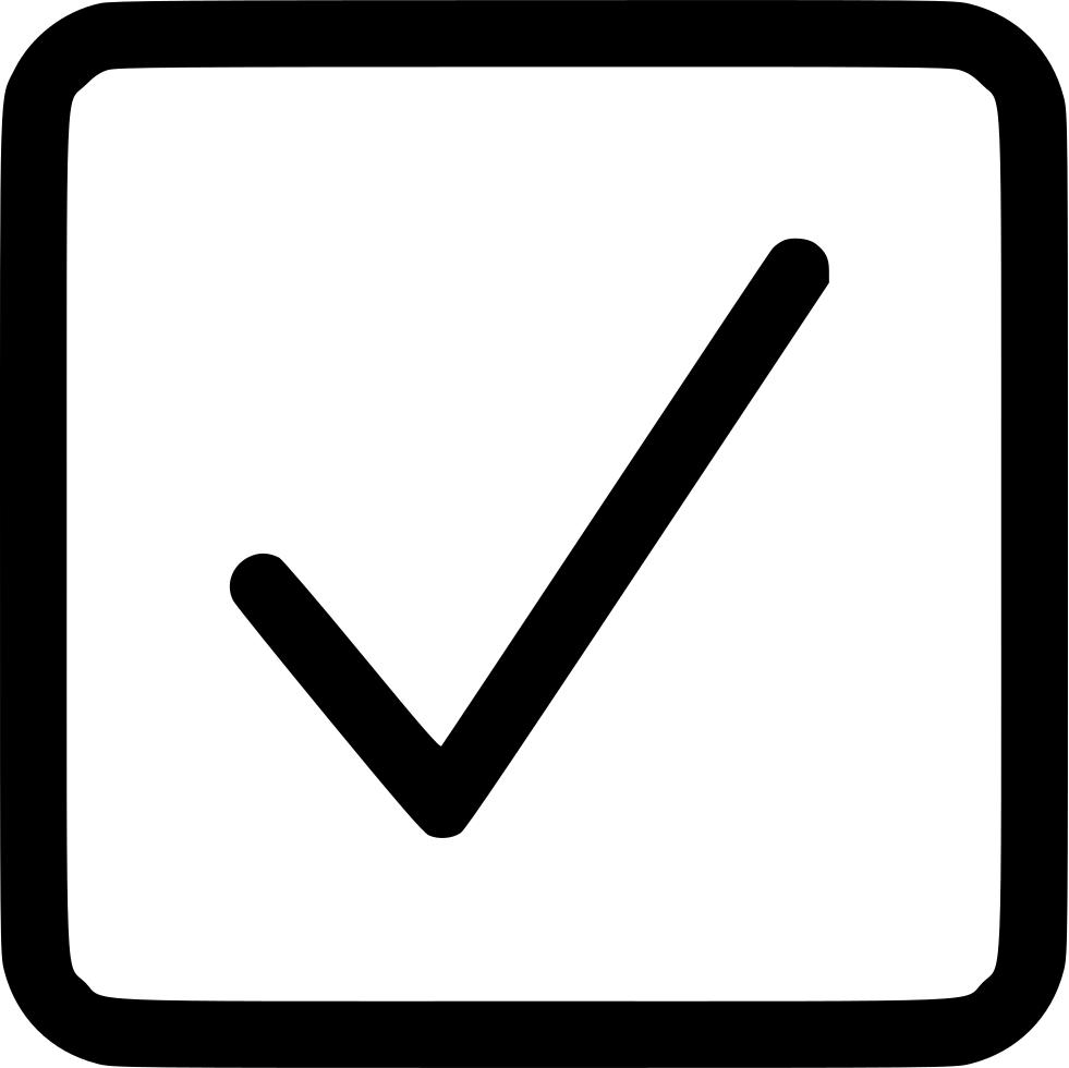 Checkbox checked svg png. Square clipart check box