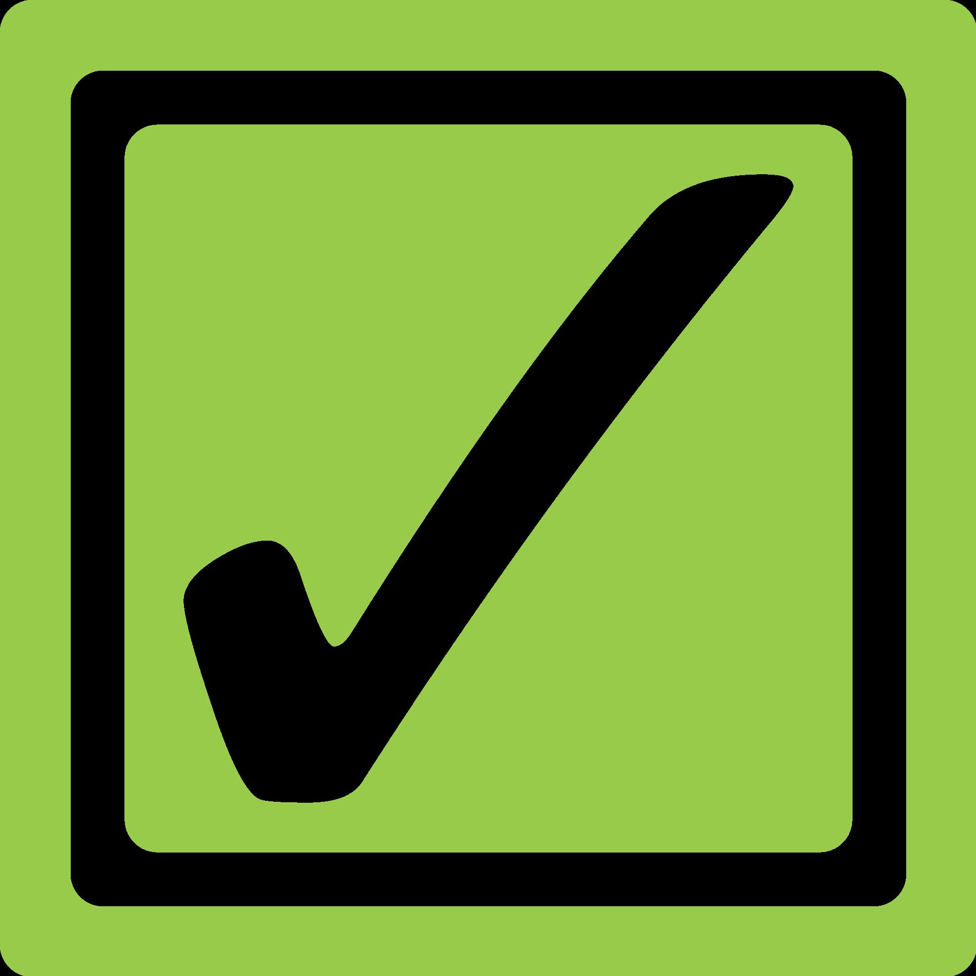 File lime checkbox checked. Square clipart check box