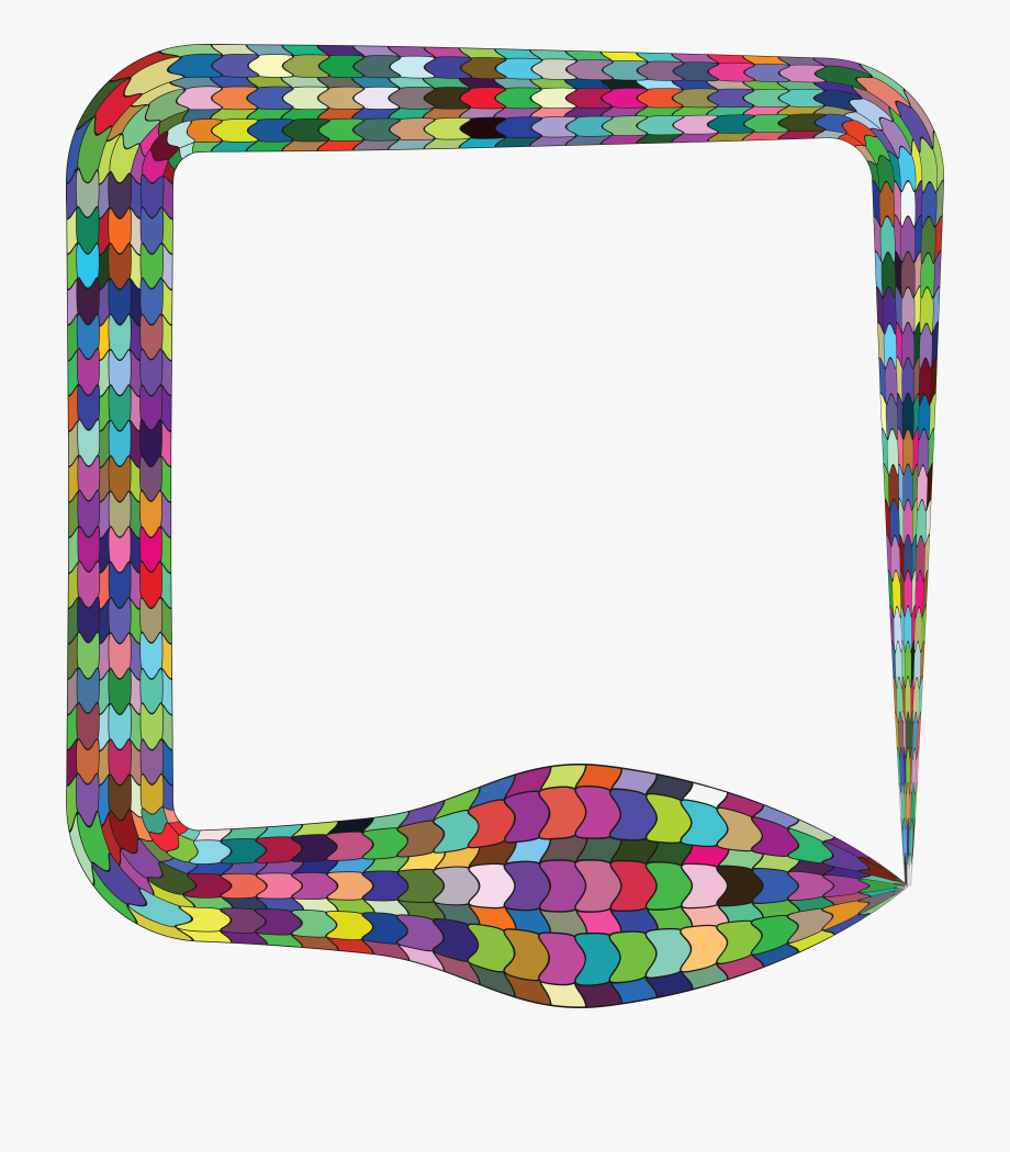 Square clipart colorful square. Free of a snake