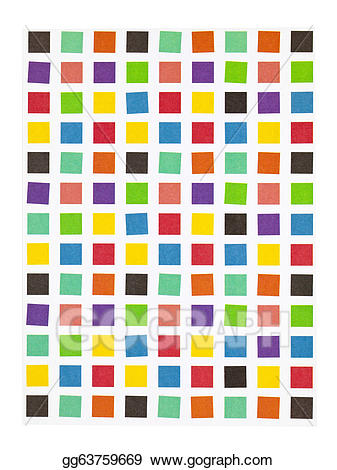 Stock illustration wallpaper . Square clipart colorful square