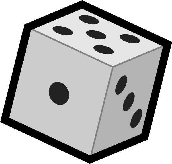 Die number ahcrb. Square clipart dice