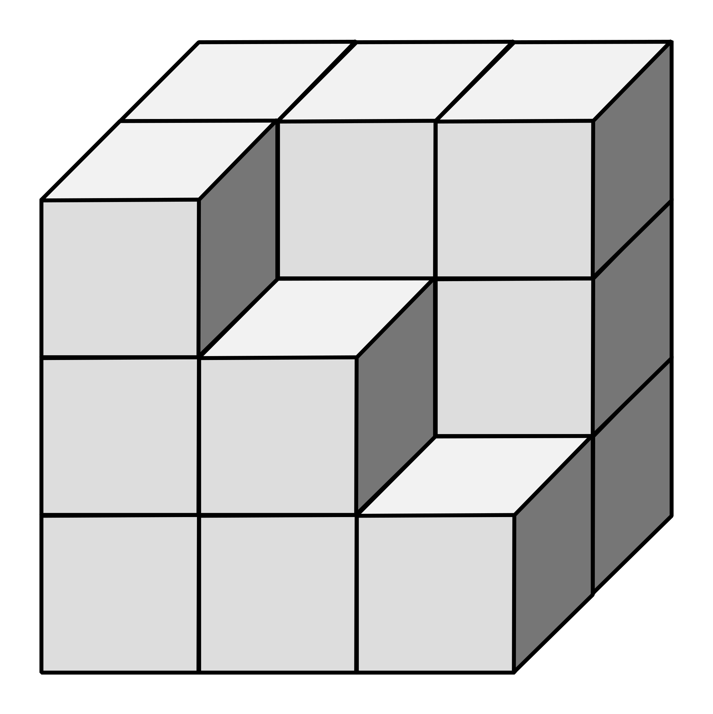 Square clipart dice. Isometric building big image