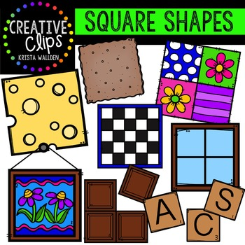 Shapes creative clips digital. Square clipart different