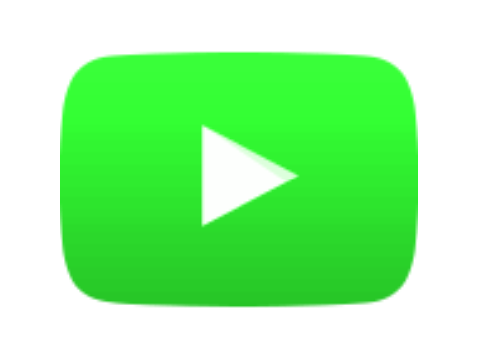 Image wild animation network. Square clipart green button