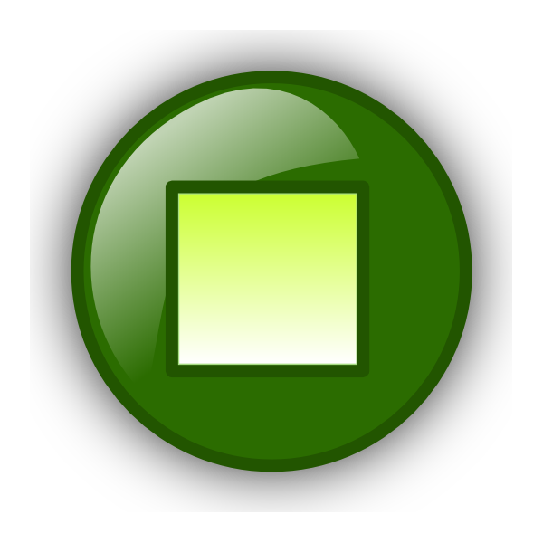 Square clipart green button. Stop clip art at