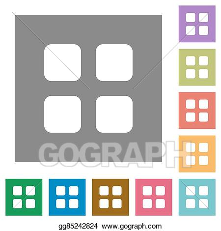 Square clipart large. Vector stock grid view