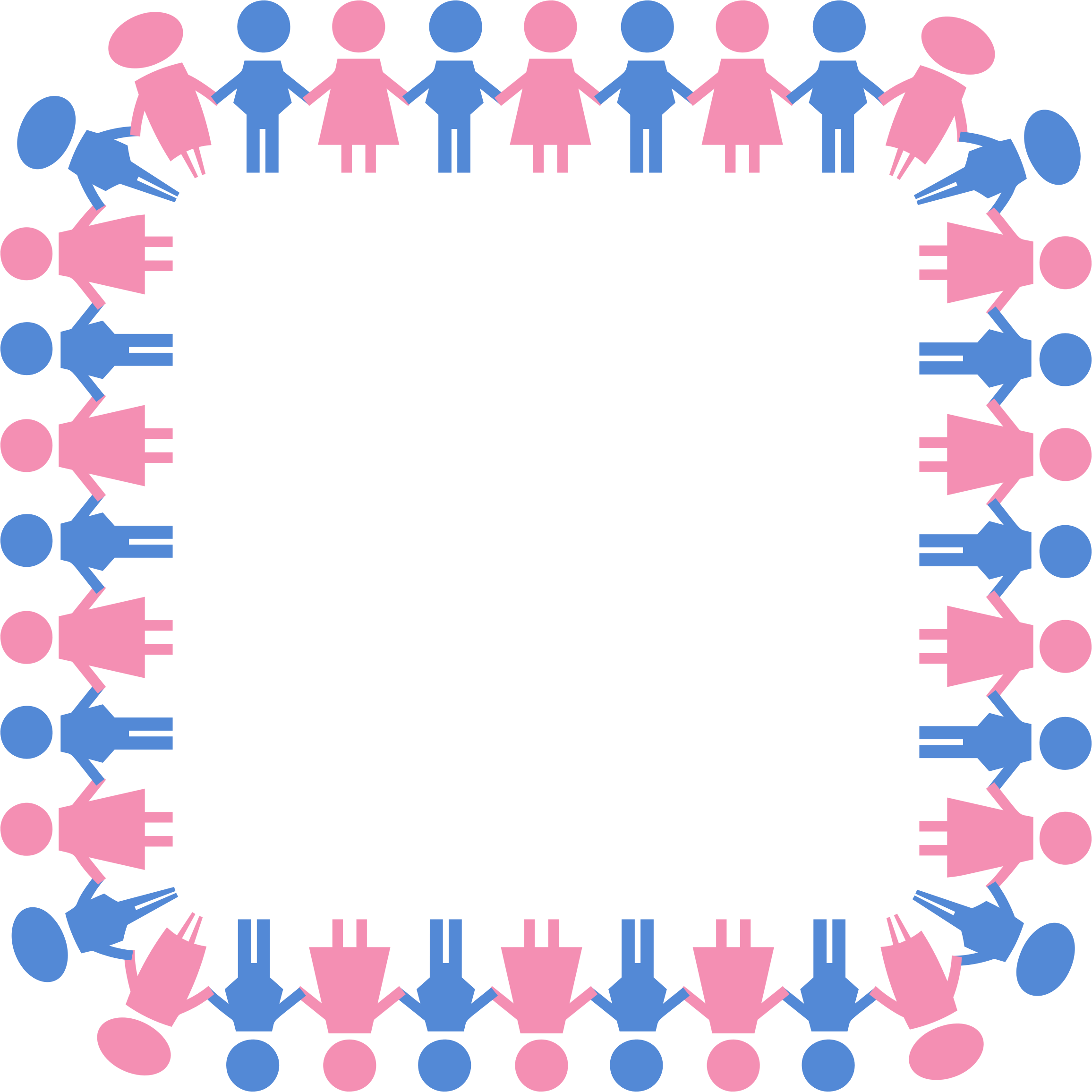 Square clipart large. Male and female symbols