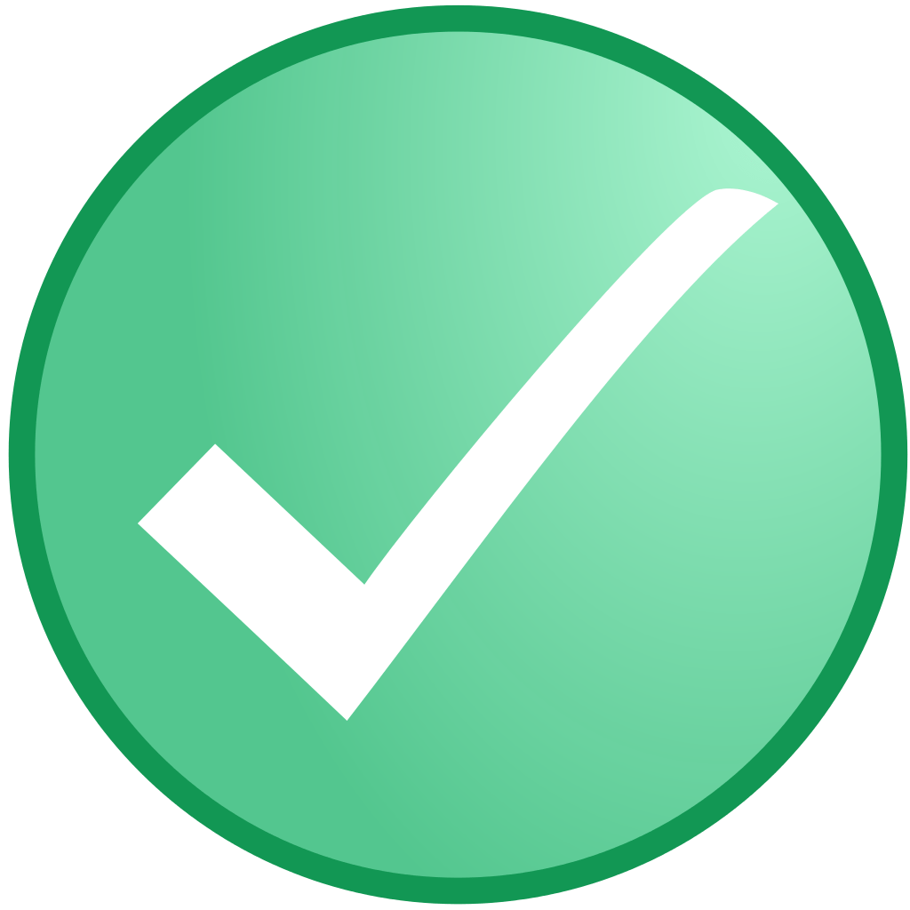 White check in circle. Square clipart light green