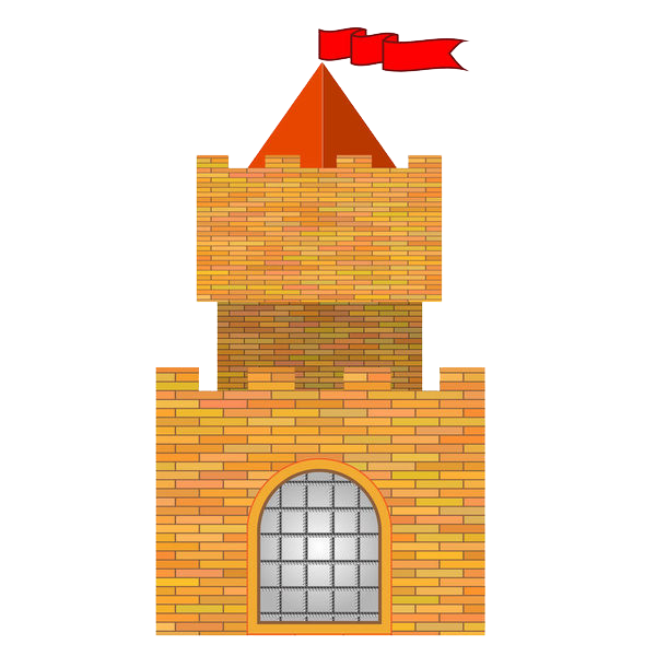 Castle royalty free stock. Square clipart lighthouse