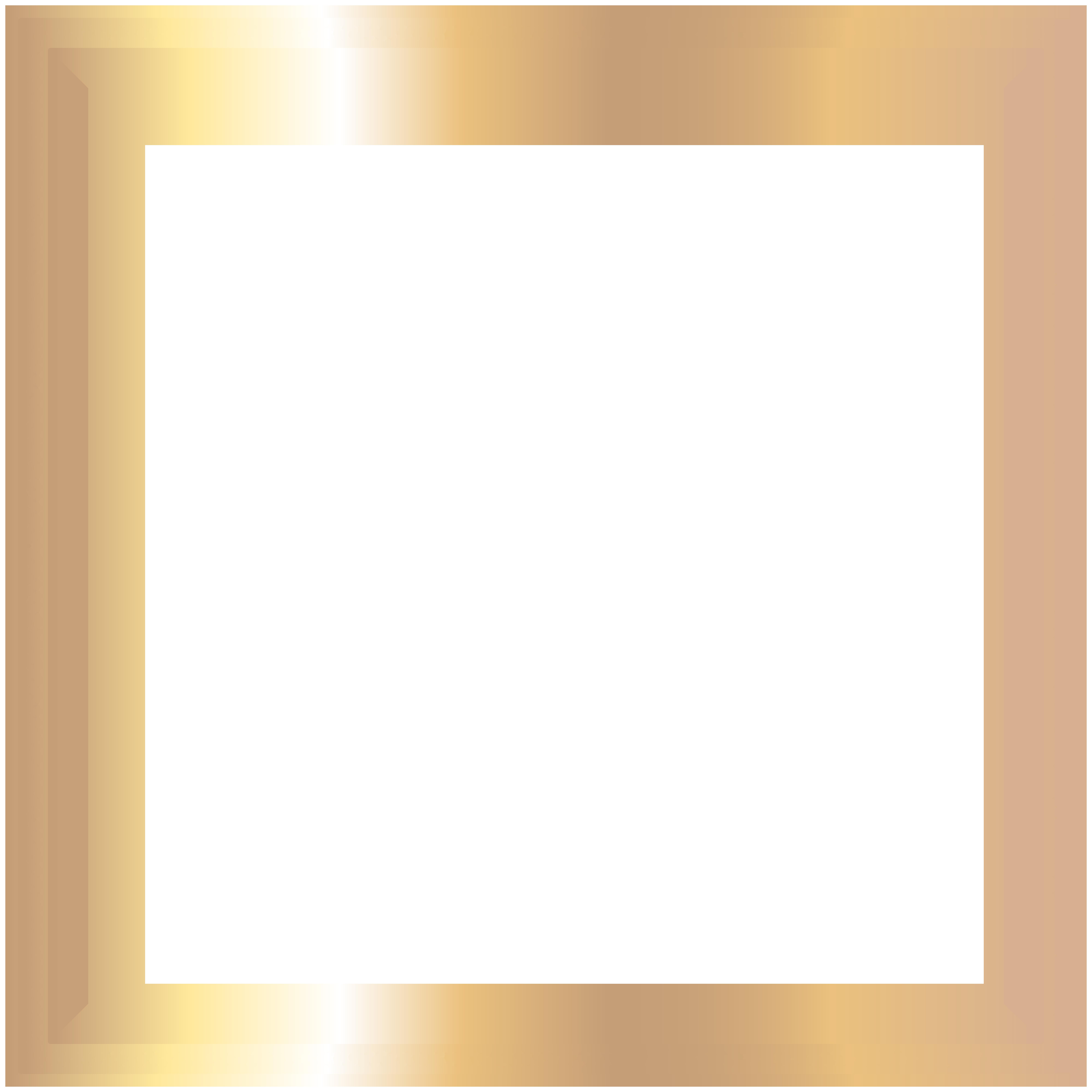 Transparent frame png clip. Square clipart photograph border