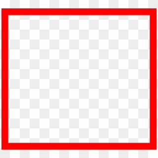 Square clipart plain. Red border cl png