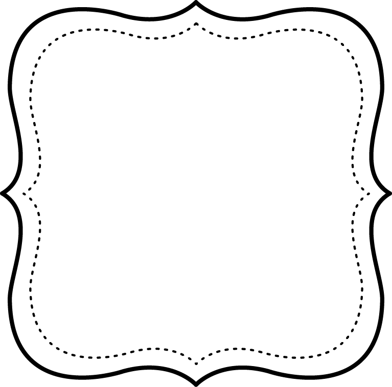 Square clipart printable. Free black and white