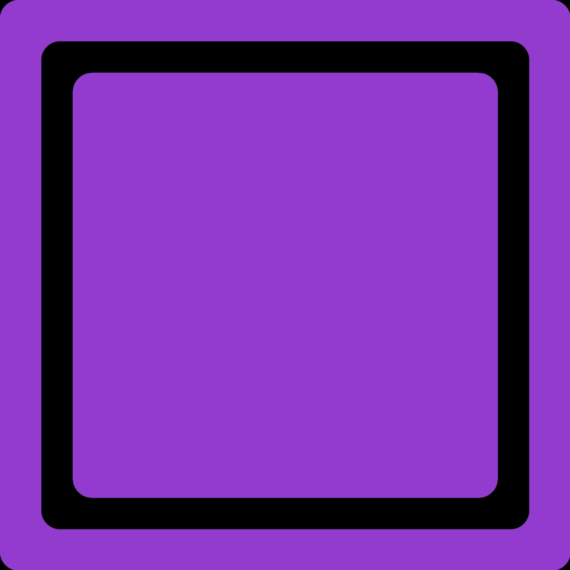 Square clipart purple. File checkbox unchecked svg