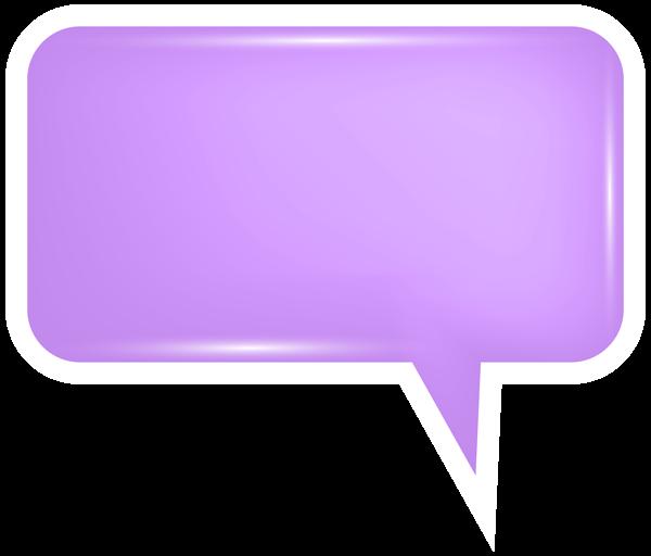 Bubble speech png transparent. Square clipart purple