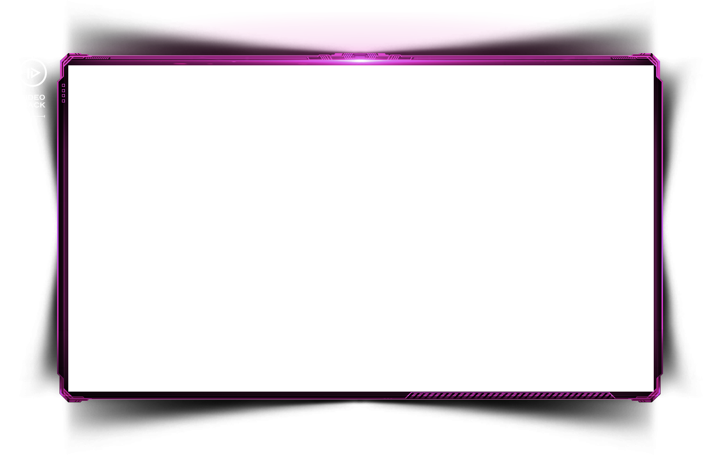 Pattern simple light border. Square clipart purple