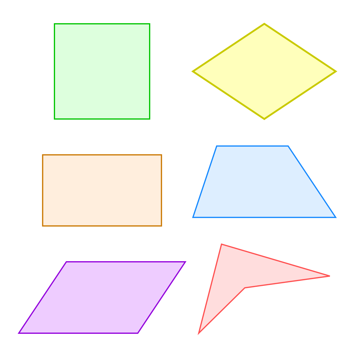 Square clipart quadrilateral shape. Shapes worksheet free printables