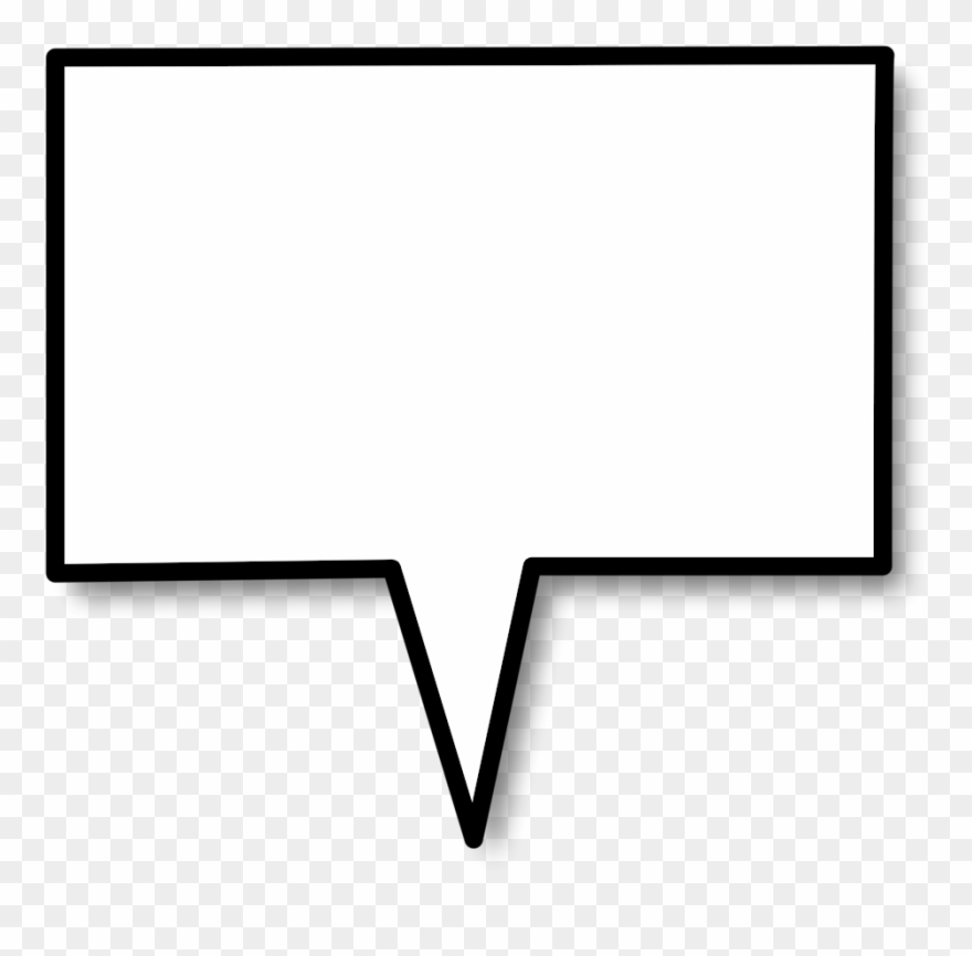 Square clipart rectangle. Speech bubble callout png