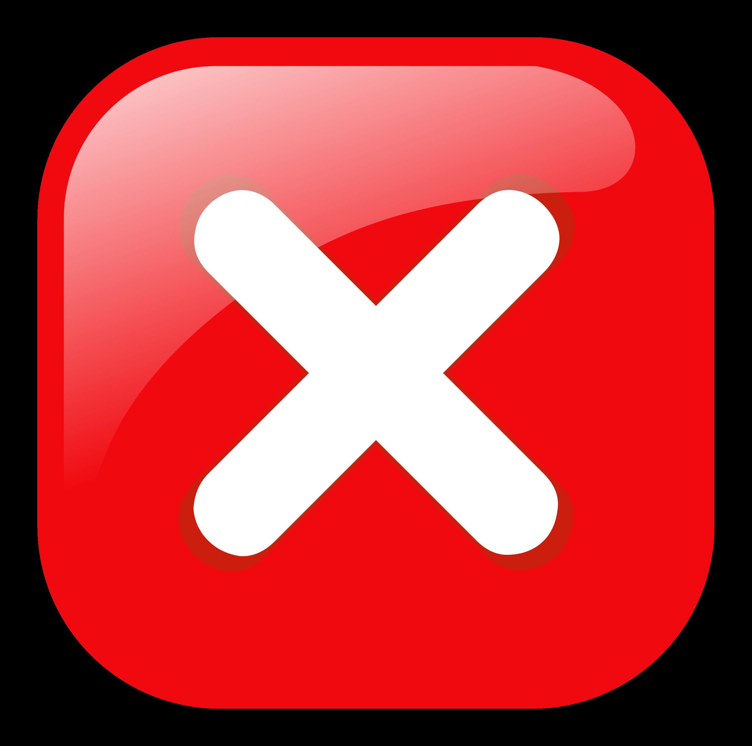 Error warning icon big. Square clipart red color