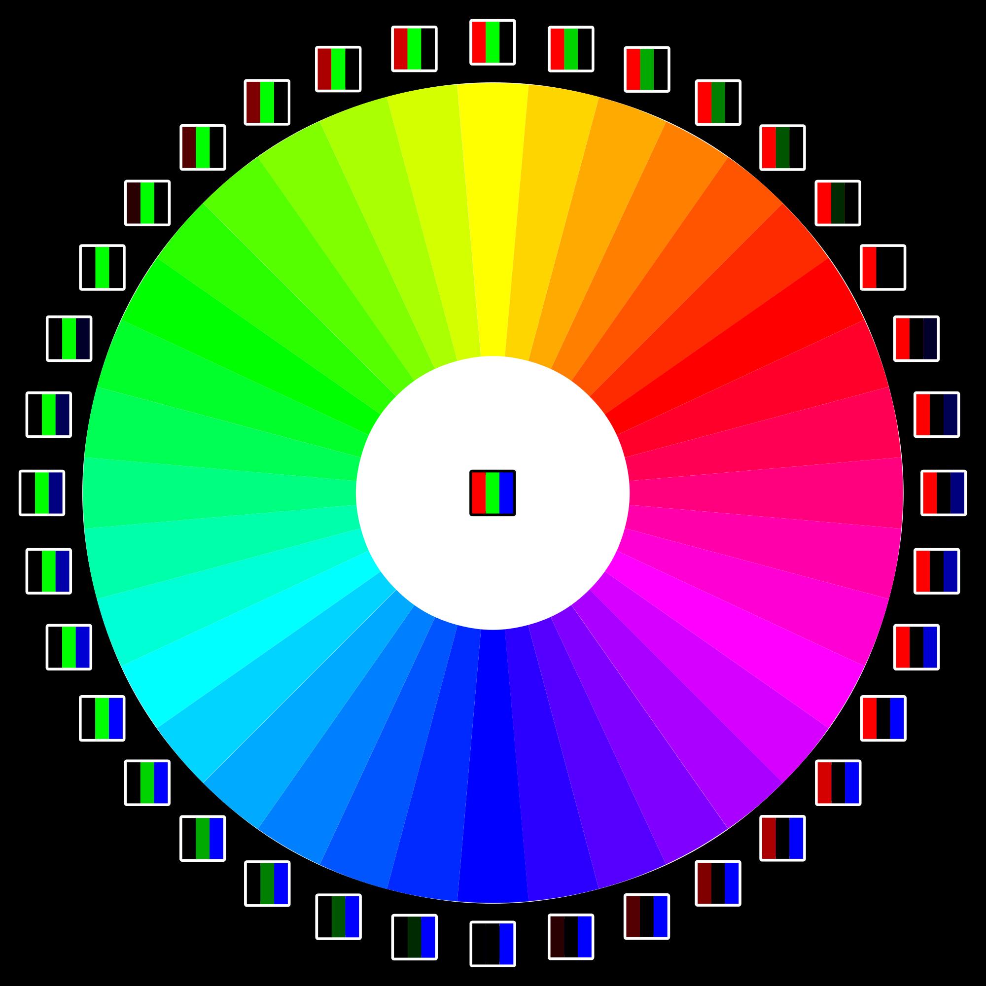File color wheel svg. Square clipart rgb