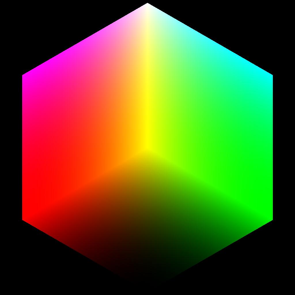 File colorcube corner yellow. Square clipart rgb