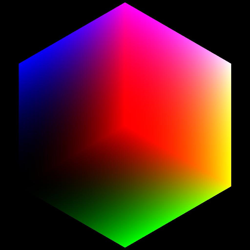 Square clipart rgb. File colorcube corner red