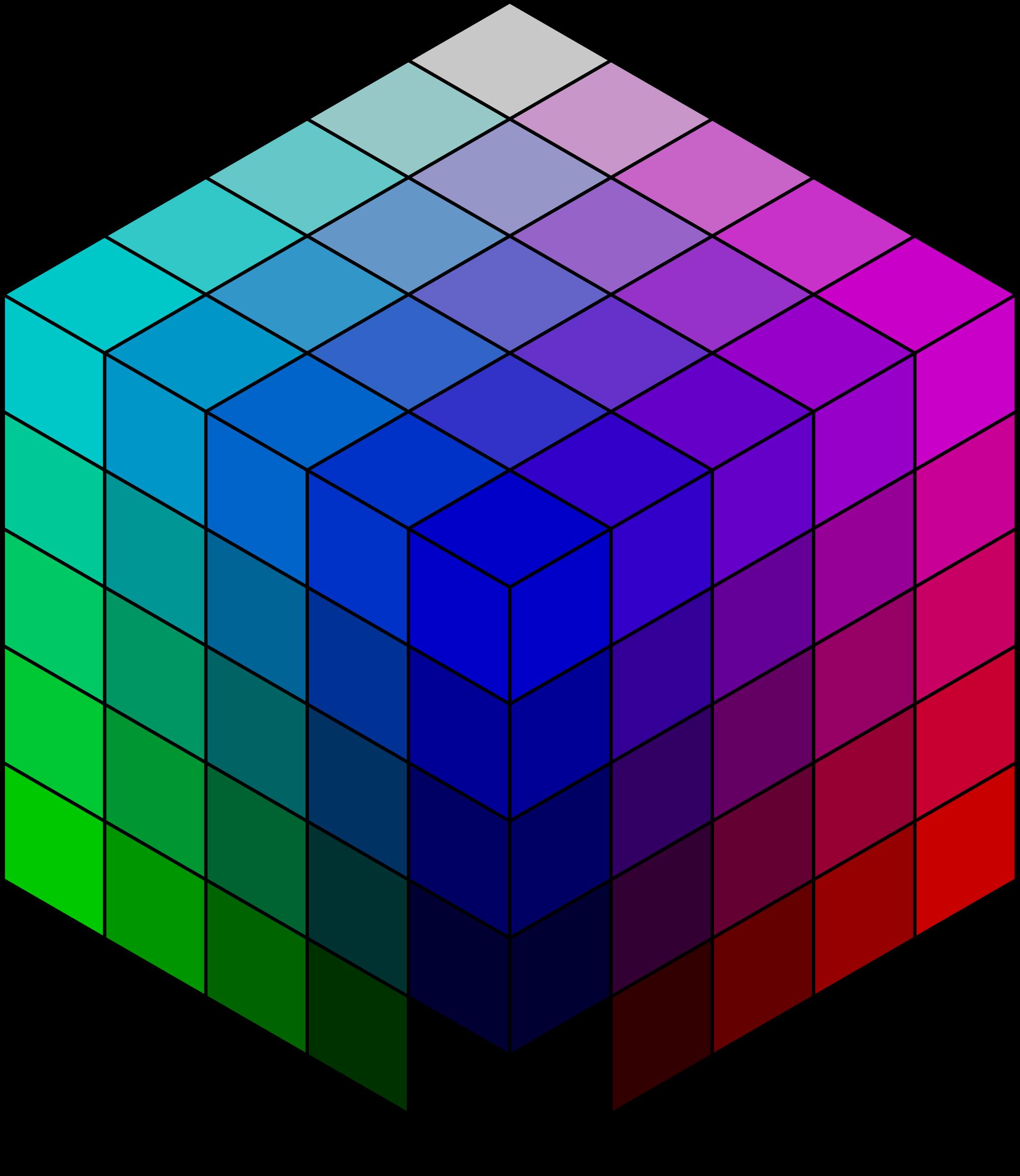 Square clipart rgb. File x color cube