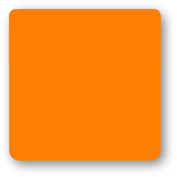 Orange Square Rounded Corners Clip Art at Clker